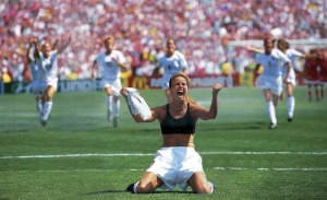 Brandi Chastain Scores Game Winning Penalty