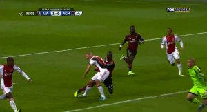 Balotelli Earns a Penalty for This